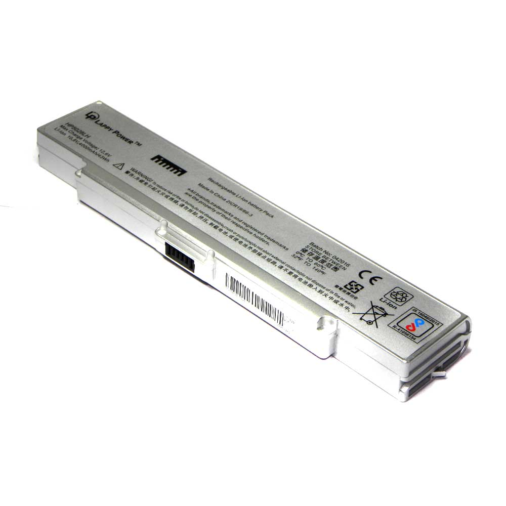 Laptop Battery For Sony Vaio VGP-BPS2 6 Cell Silver