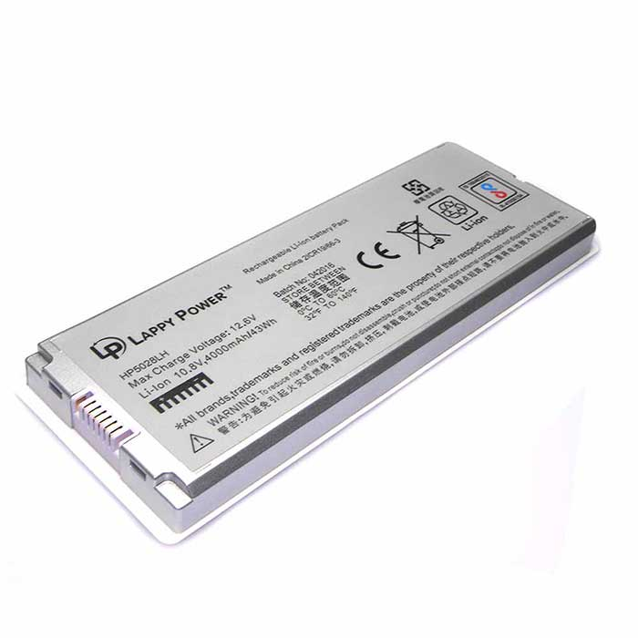 Laptop Battery For MacBook Pro 13 A1185 6 Cell Silver