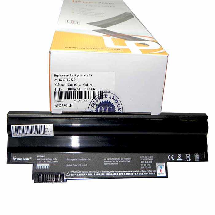Laptop Battery For Acer Aspire One D255 Black 6 Cell
