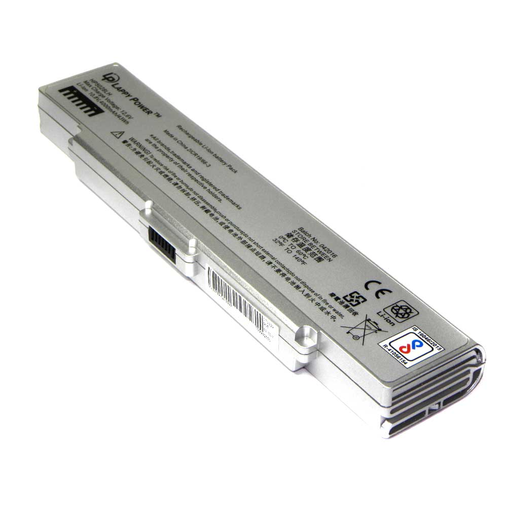 Laptop Battery For Sony Vaio VGP-BPS9A-S 6 Cell Silver