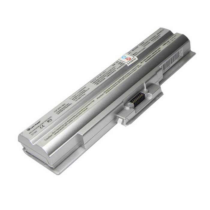Laptop Battery For Sony Vaio VGP-BPS13B 6 Cell Silver