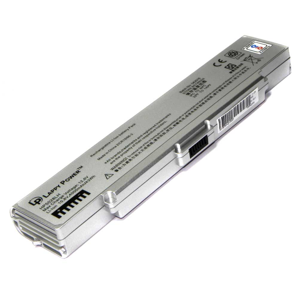 Laptop Battery For Sony Vaio VGP-BPS9A-B 6 Cell Silver